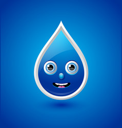 Water drop character vector