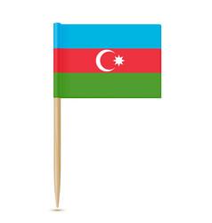 azerbaijan flag toothpick vector image vector image