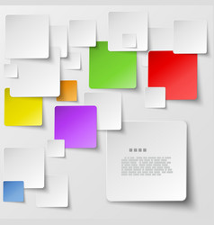 Color square tiles abstract background vector image vector image