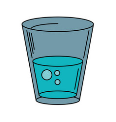 glass water fresh icon vector image