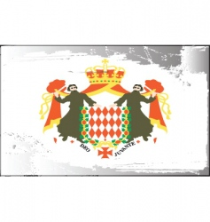 Monaco national flag vector image vector image