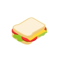 Sandwich icon isometric 3d style vector image vector image