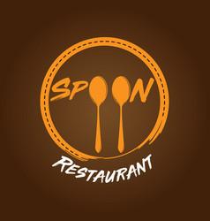 spoon restaurant logo vector image