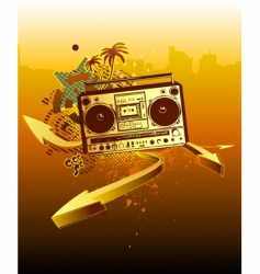 urban music background vector image vector image