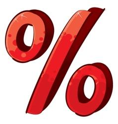 Artistic percent sign vector image