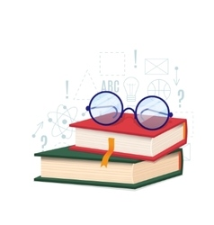 Book and glass vector image vector image