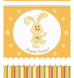 easter bunny greeting card vector image vector image