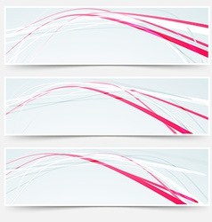 Fast speed rapid red lines web banners set vector image vector image