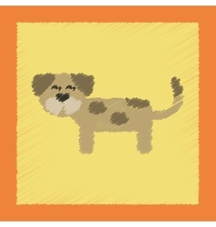 flat shading style icon pet dog vector image vector image
