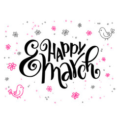Hand lettering greetings text - happy vector