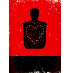 Red and black poster with target vector image vector image