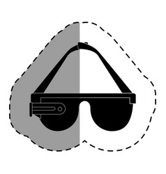 virtual reality glasses icon vector image