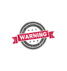 warning stamp sign seal vector image