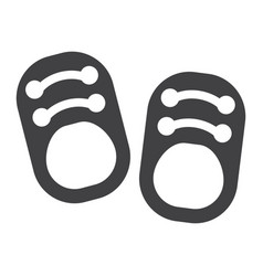 baby shoes solid icon footwear and fashion vector image vector image