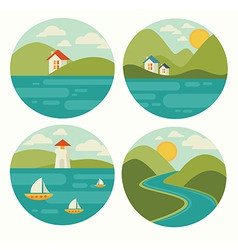 Landscape and nature vector