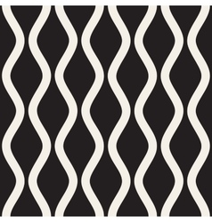 Seamless Black and White Vertical Wavy vector image vector image