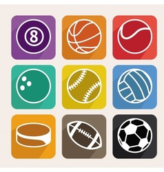 set with sport balls vector image vector image