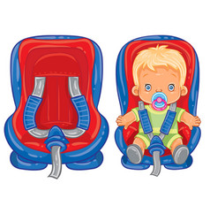 small child in car seat vector image vector image