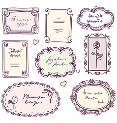cute doodle floral vector image