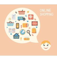 Online shopping innovation idea vector