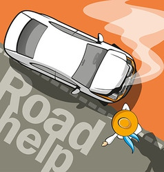 Road Help vector image vector image