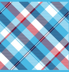 turquoise seamless pattern check plaid fabric vector image