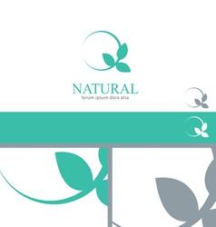 Wellness Mint Menthol Leaves Logo Concept Design vector image vector image