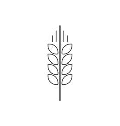 Wheat spike logo grain ear icon organic vector image