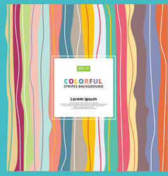 Abstract colorful pastels vertical striped vector