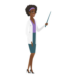 African-american doctor holding pointer stick vector