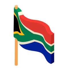 African flag icon isometric style vector