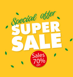banner special offer super sale 70 off imag vector image