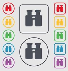 Binocular Search Find information icon sign symbol vector image