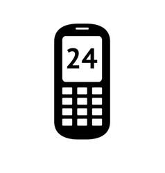 black icon on white background vector image