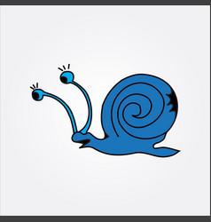 blue snail image vector image
