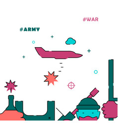 Bomber airplain filled line icon simple vector