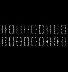 brackets icons vintage typography symbol vector image