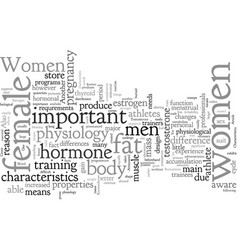 Characteristics in physiology female vector