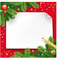 Christmas wish letter letter to santa vector
