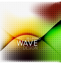 Colorful blurred wave business background vector image