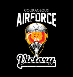 creative design victory poster vector image