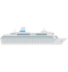 cruise ship travel luxury sea boat vector image