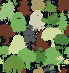 deep forest camouflage seamless pattern vector image