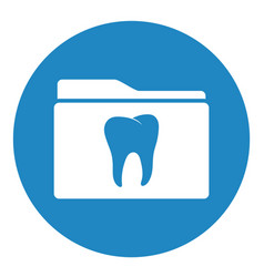 Dental folder icon vector