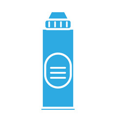 disinfectant plastic bottle product with drop line vector image
