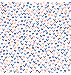 Ditsy little doodle love hearts pattern vector