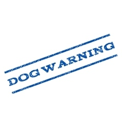 Dog Warning Watermark Stamp vector