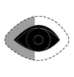 Eye human isolated icon vector