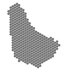 Football ball barbados map mosaic vector