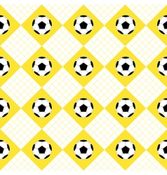 Football Ball Yellow White Chess Board Diamond vector